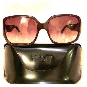 Fendi Sunglasses Maroon Like New